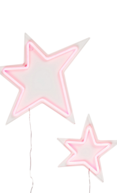 Pink Neon Star Duo