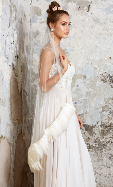 Wedding dress from the latest Charlottle Balbier collection