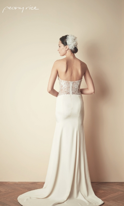 Peony Rice Lace Back Gown