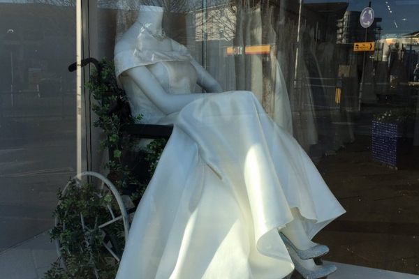 Bridal Boutique Praised for Window Display Featuring Woman in Wheelchair