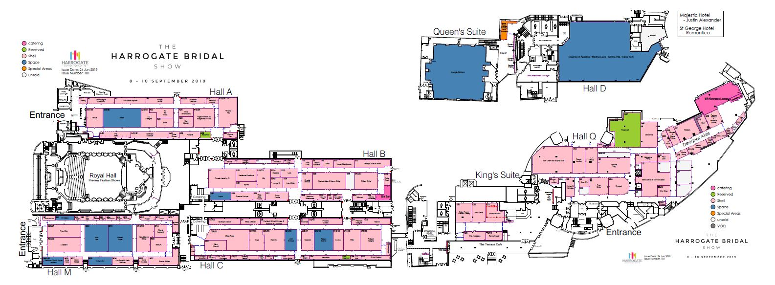 Harrogate Bridal Show floorplan