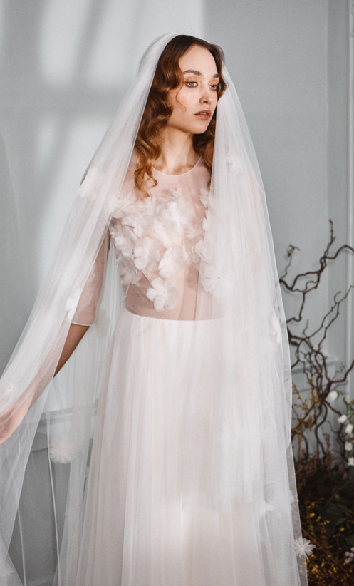Gregory Dress & Welsh Veil
