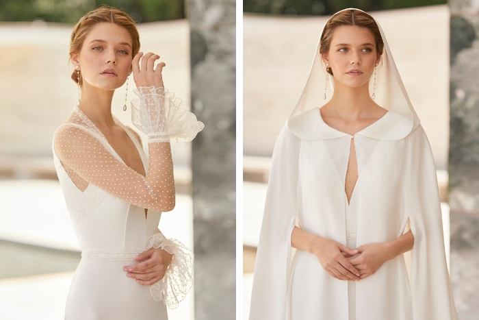 Rosa Clará launches its first collection of bridal coats and capes