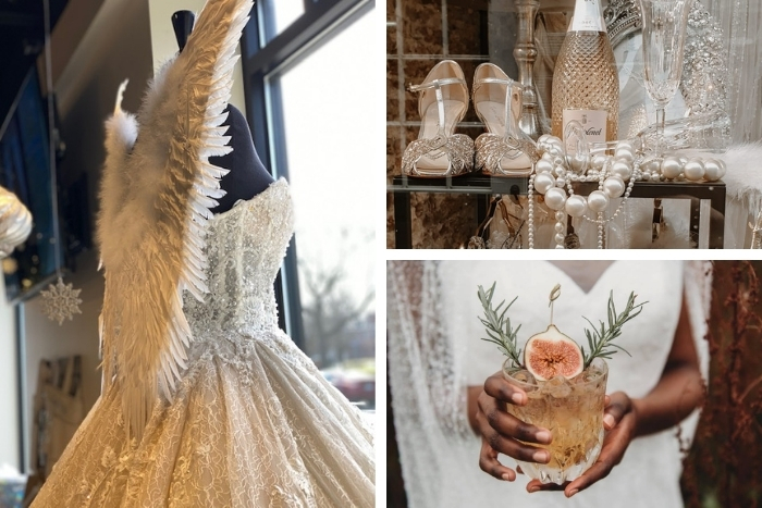 Christmas in a Bridal Boutique