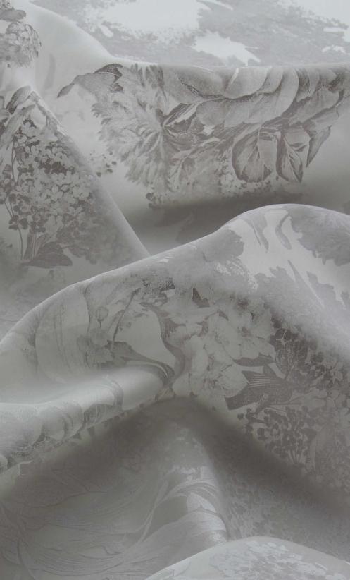 Ivory Silk Printed Taffeta - Belissa