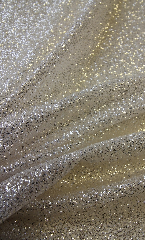 Ivory Glitter Tulle - Sorcery